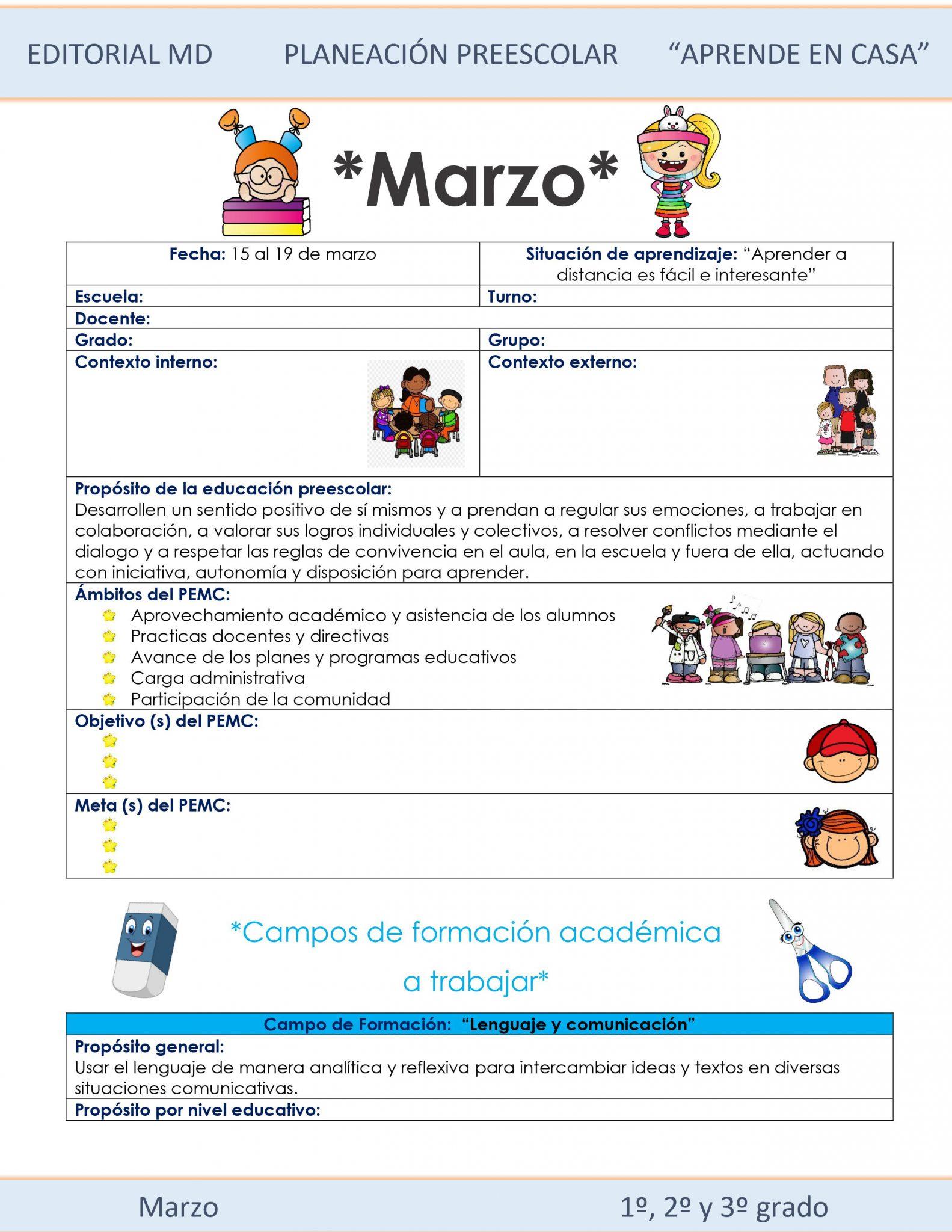 Ejemplo planeación Preescolar del 15 al 19 de marzo del 2021 01
