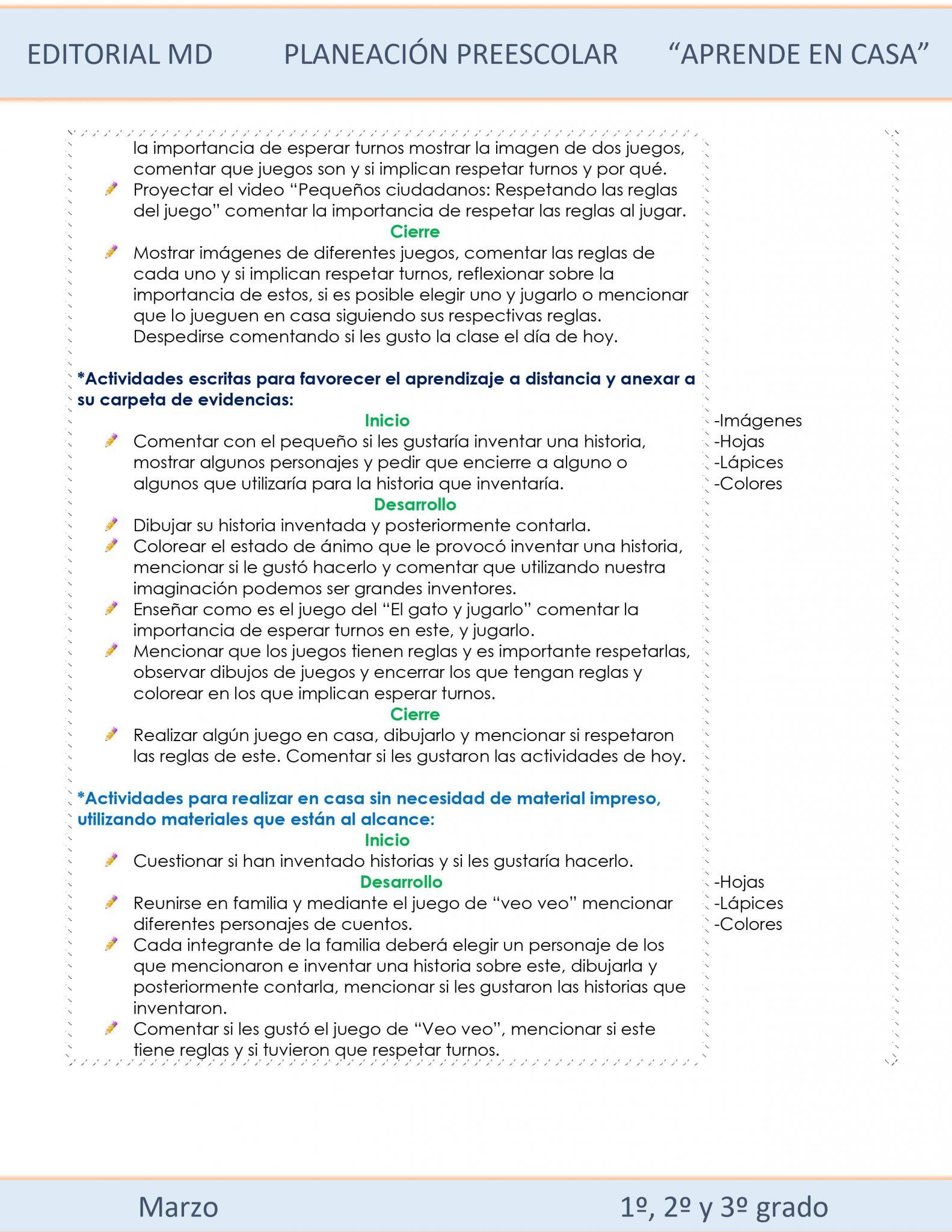 Ejemplo planeación Preescolar del 15 al 19 de marzo del 2021 02
