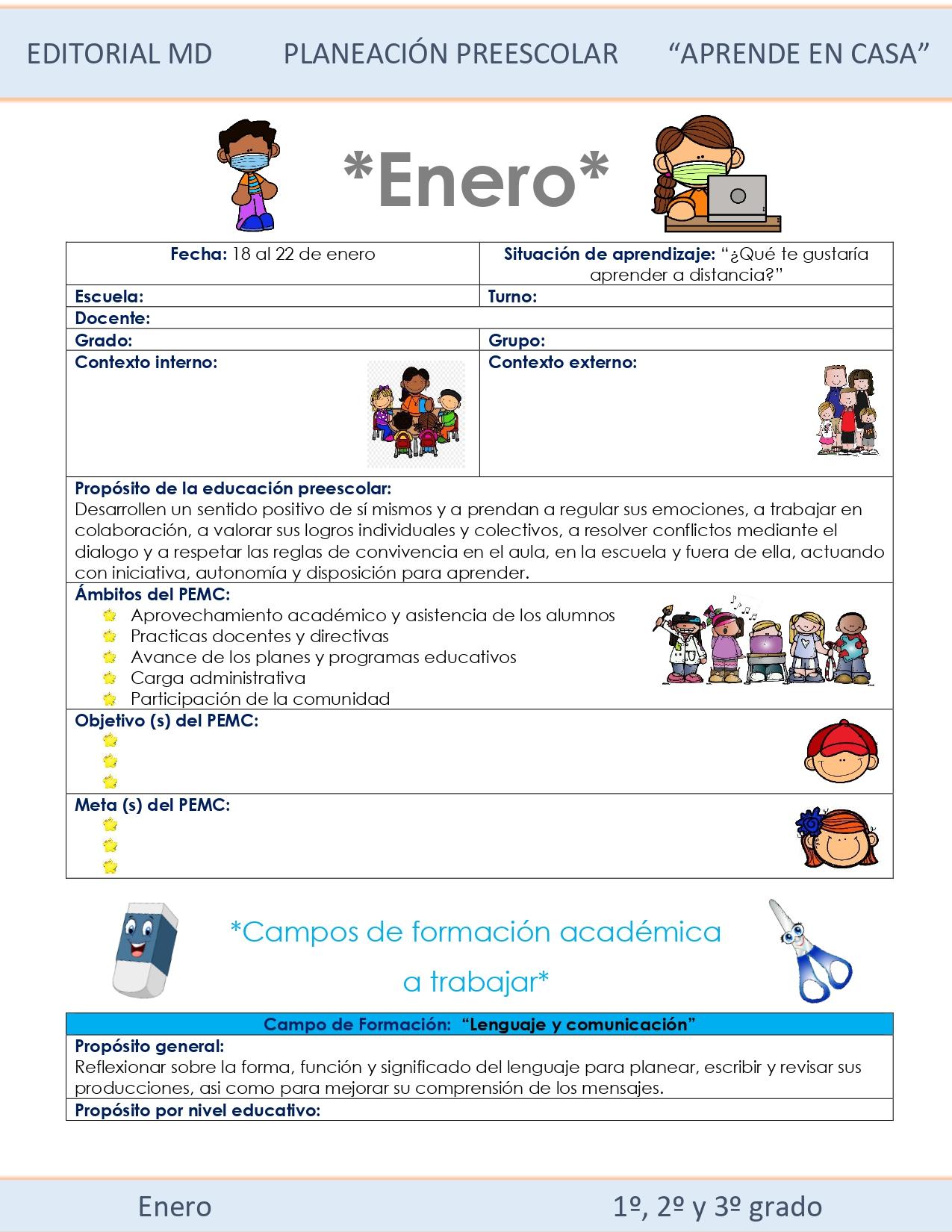 Ejemplo planeación Preescolar del 18 al 22 de enero de Preescolar 2021 01
