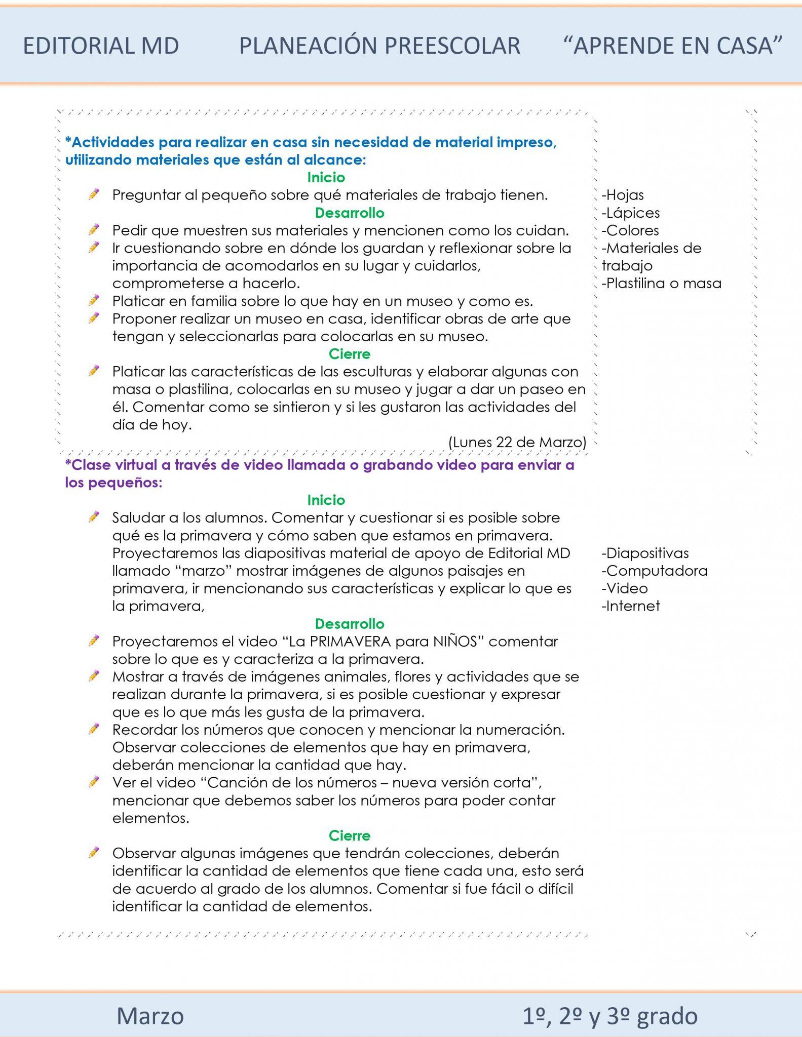 Ejemplo planeación Preescolardel 22 al 26 de Marzo del 2021 02