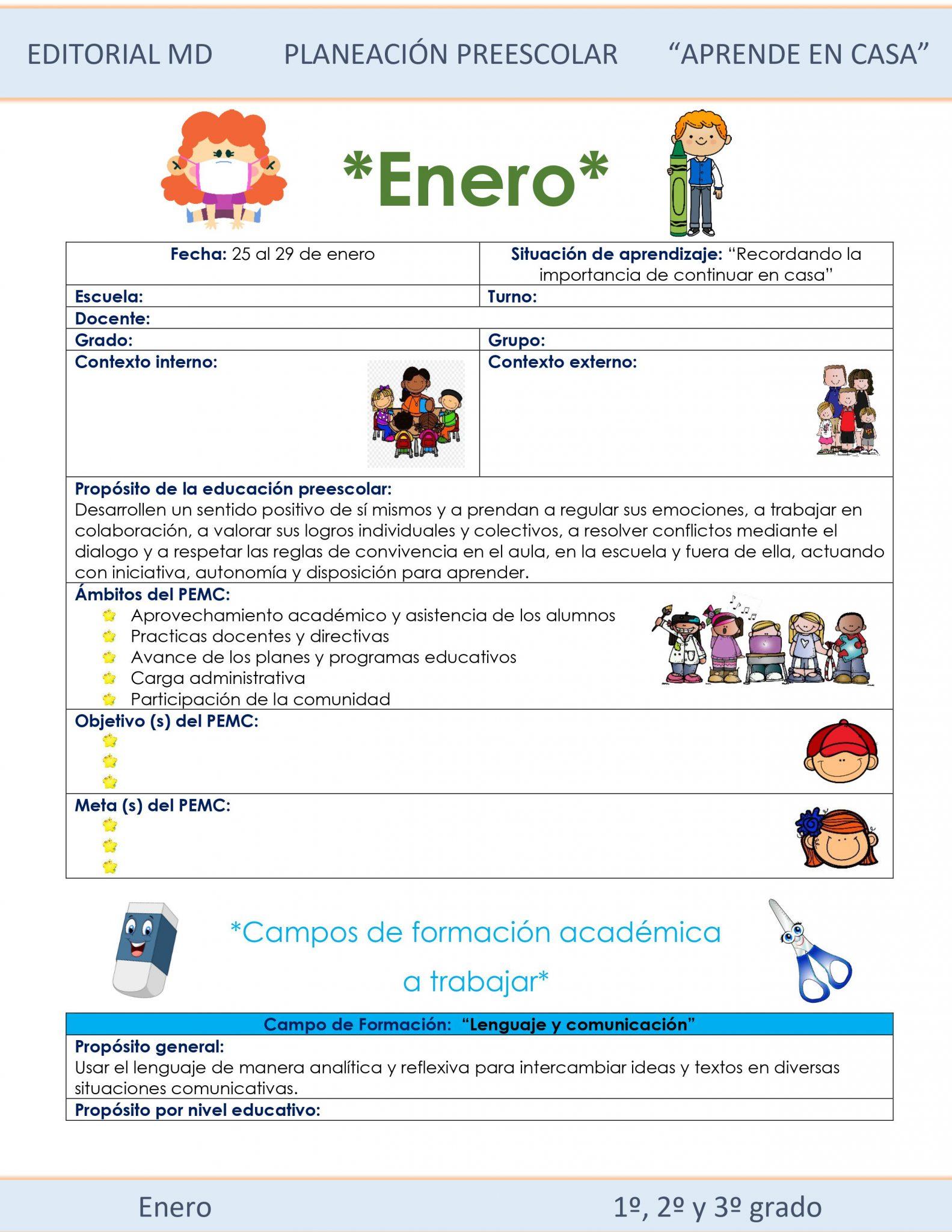 Ejemplo planeación Preescolar del 25 al 29 de enero del 2021 01