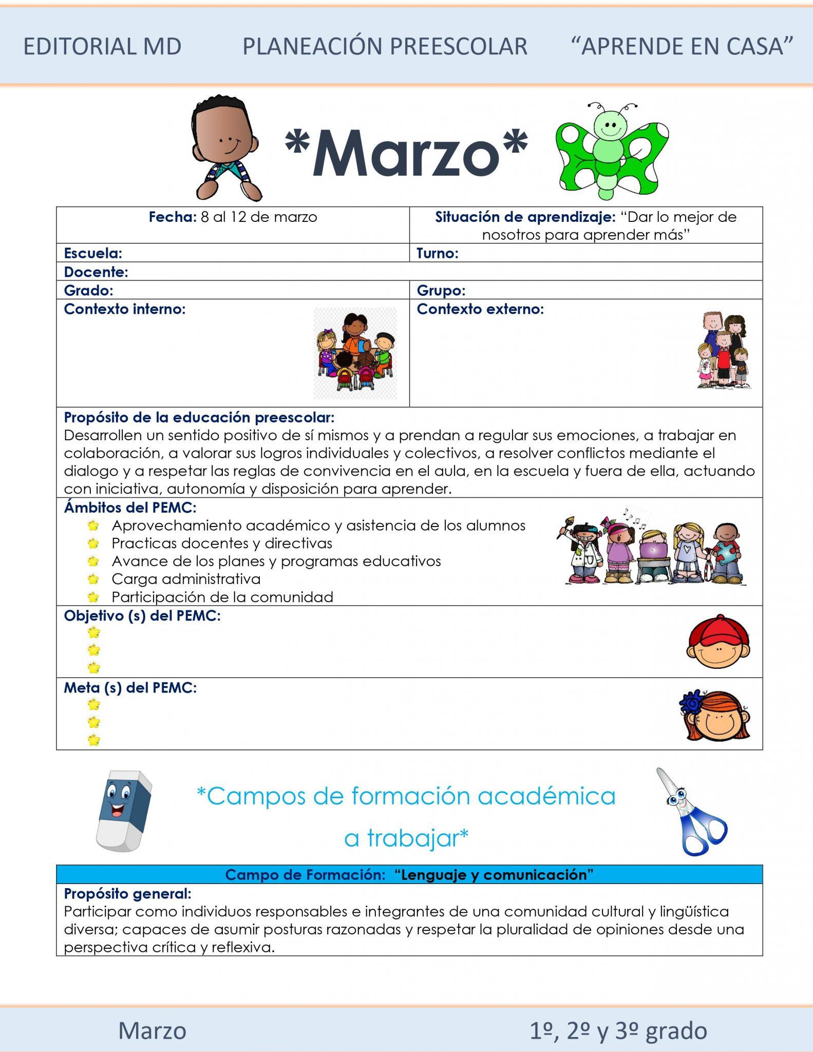 Ejemplo planeación Preescolar del 8 al 12 de marzo del 2021 01