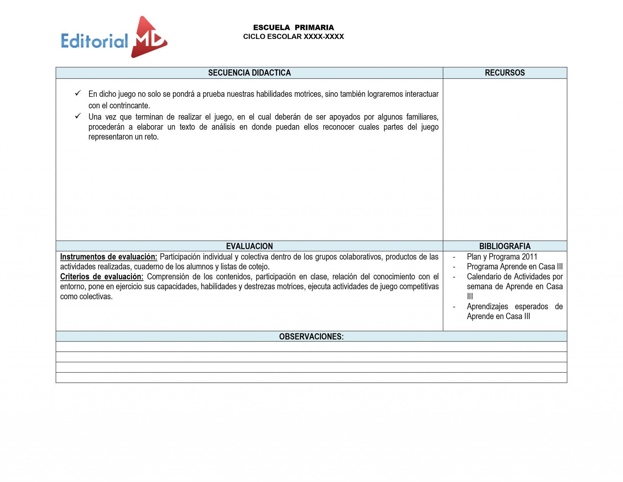 Ejemplo planeacióndel 12 al 16 de Abril del 2021 SECUENCIA DIDACTICA