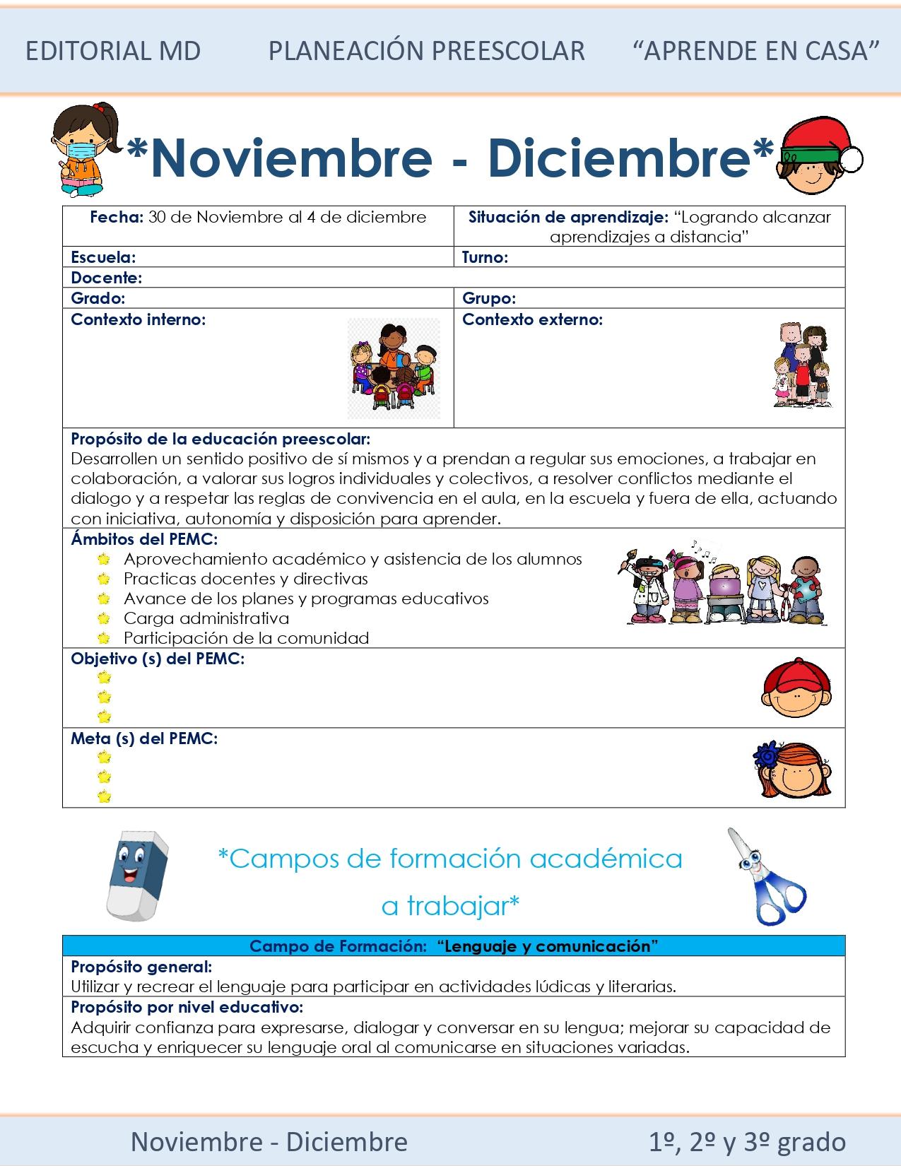 Ejemplo planeación semana 15 preescolar 01