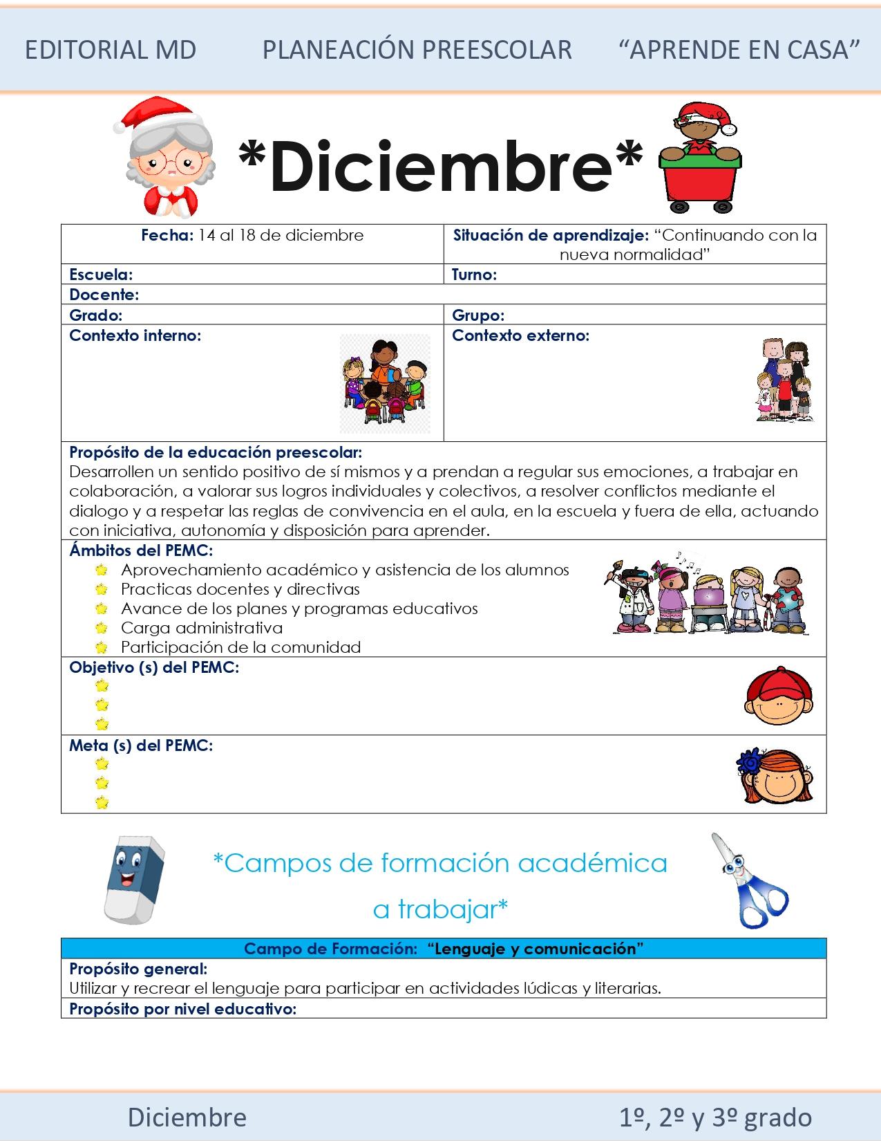 Ejemplo planeación semana 17 preescolar