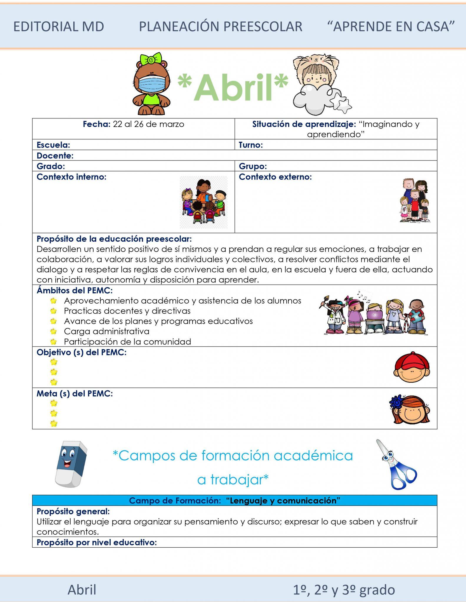 Ejemplo planeación semana 30 de preescolar del 19 al 23 de Abril del 2021 01