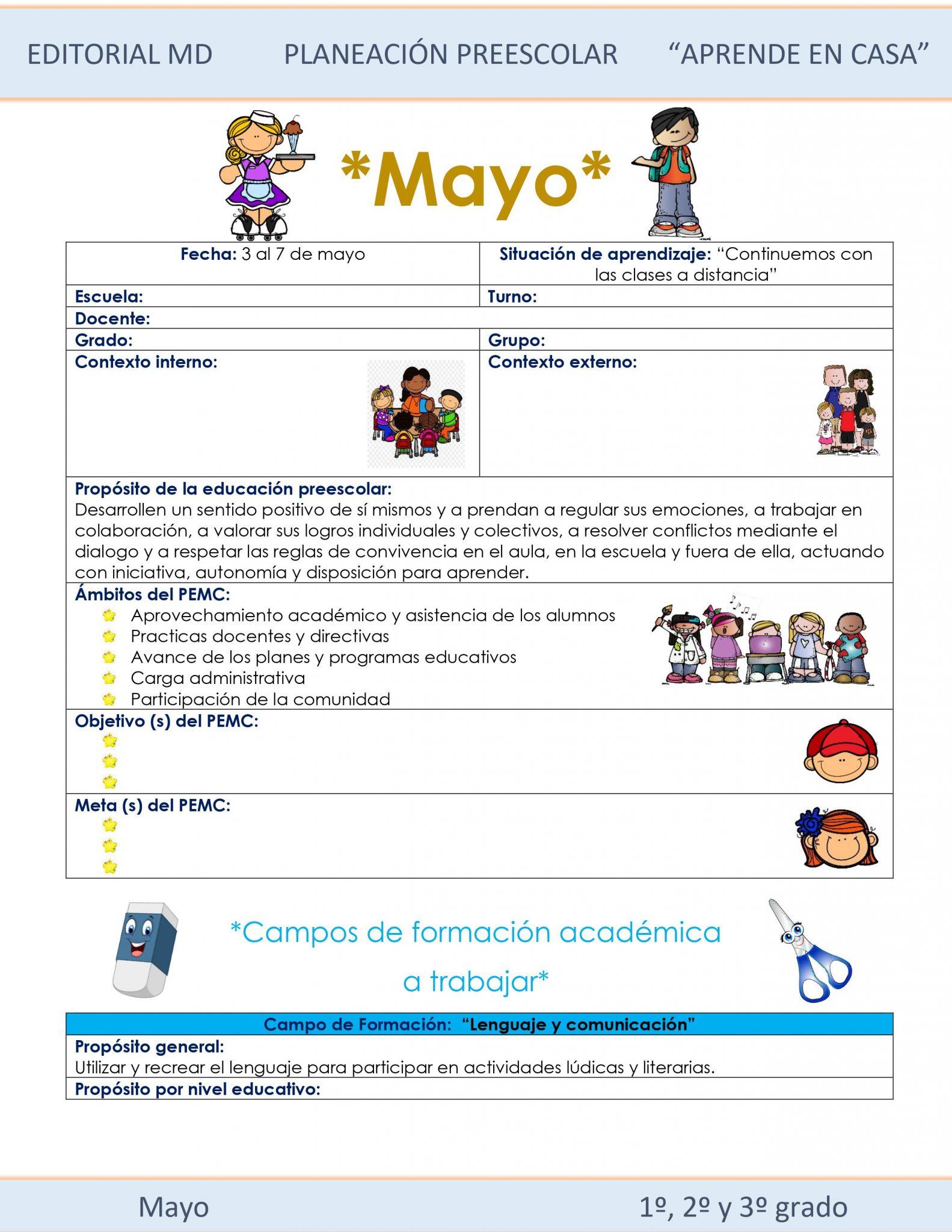 Ejemplo planeación semana 32 de preescolar 01