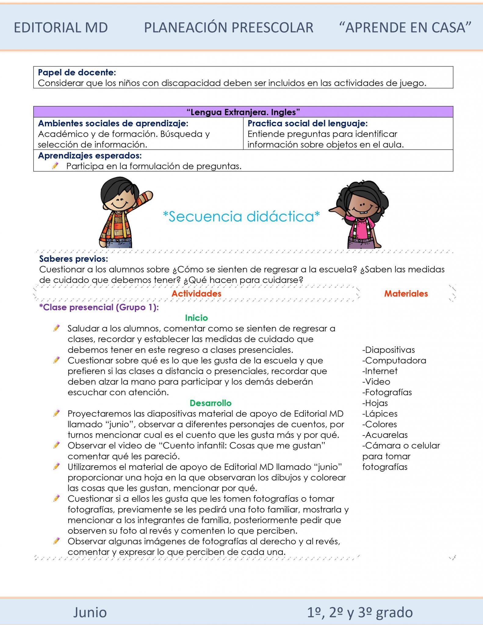 Ejemplo planeaciones Preescolar semana 37 clases presenciales