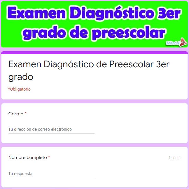 EjemploExamen diagnóstico para preescolar 3er grado 01