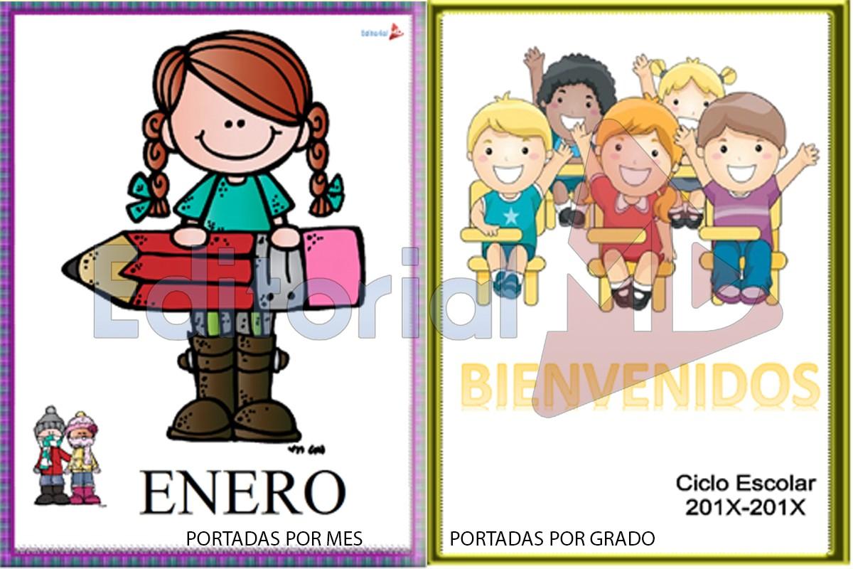 Imagenes Para Portada De Español Para Colorear: Portadas Escolares Para Imprimir