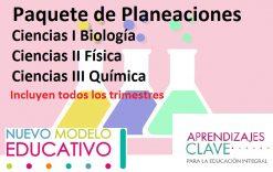 Paquete de Planeaciones Ciencias I, II , III (Biología, Física y Química)