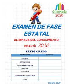 Examen De La Olimpiada Del Conocimiento Infantil