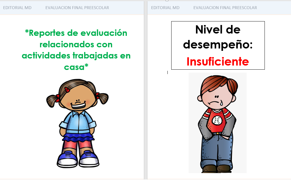 Evaluación de Aprende en Casa para Preescolar