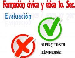 Examen Formación Cívica y Ética (1er. Trimestre)