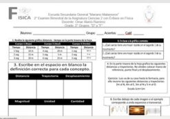 Examen Del 1° Trimestre Ciencias II Énfasis En Física.