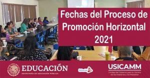 Fechas del Proceso de Promoción Horizontal 2021