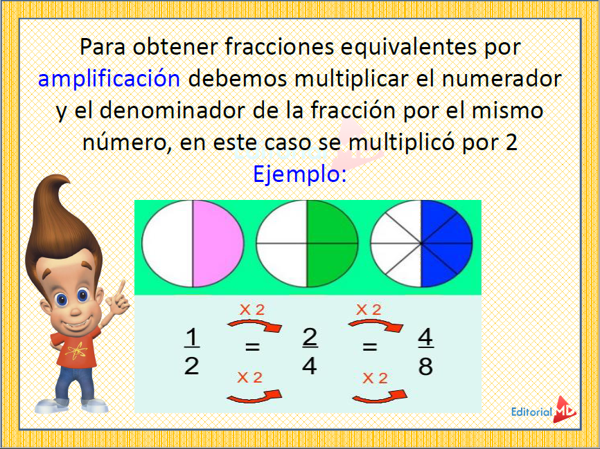 ejemplo Fracciones Equivalentes para Niños 03