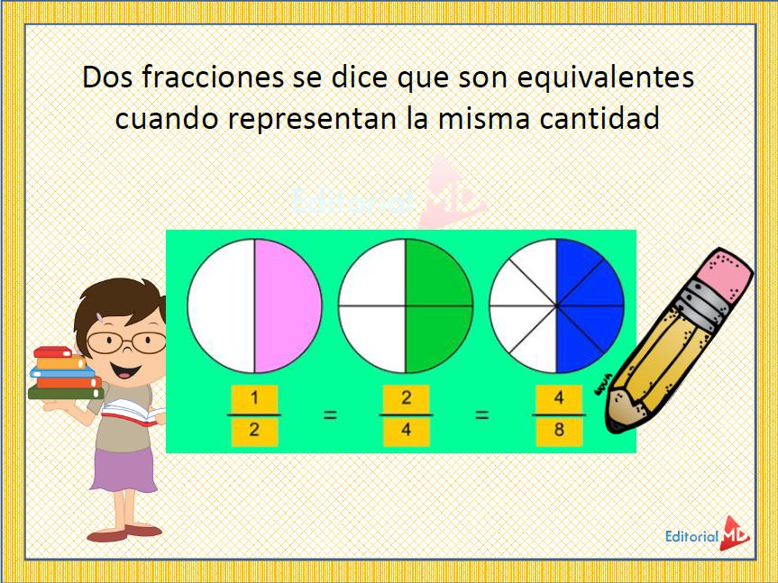 ejemplo Fracciones Equivalentes para Niños 02