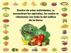 Productos Agrícolas ejemplo