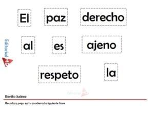 Natalicio de Benito Juarez, Biografia para Niños + Actividades