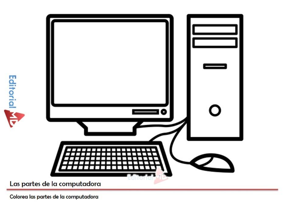 Results for Partes Del Computador Para Niños Colorear