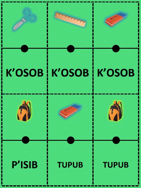 Juegos de dominó de palabras en lengua maya 04