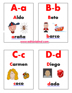 lotería del abecedario para niños