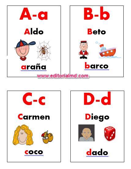 lotería del abecedario para imprimir