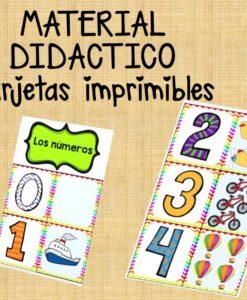 tarjetas de numeros para niños