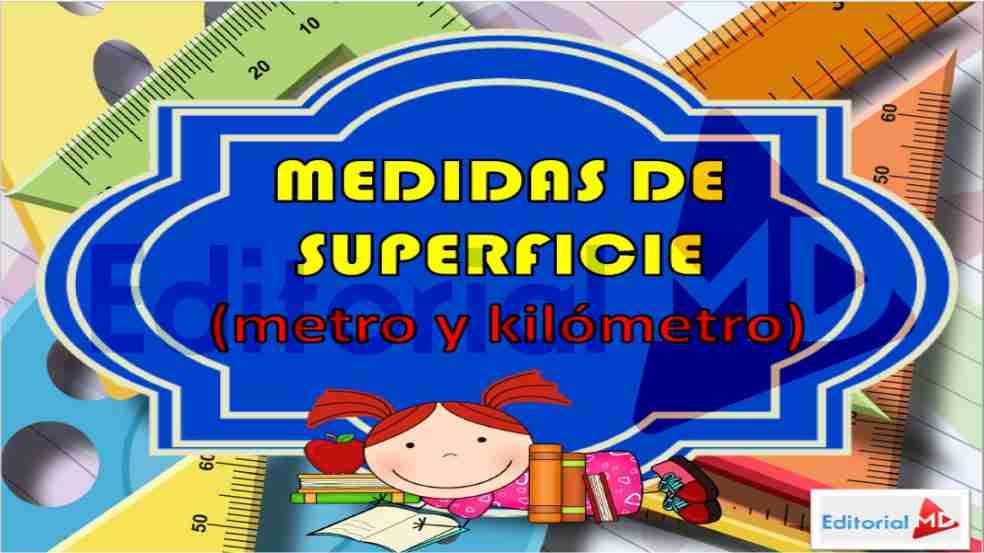 medidas de superficie para niños