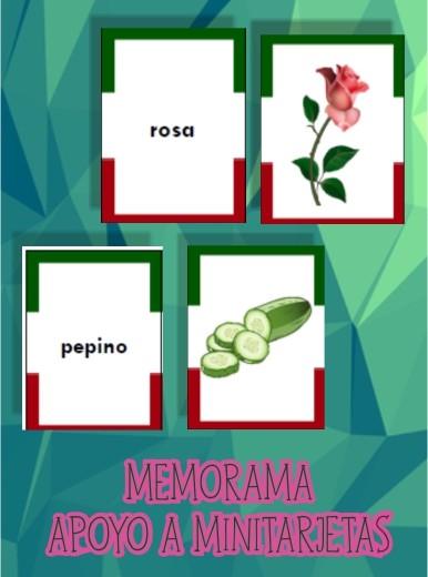 Memorama para Niños para apoyo a Minitarjetas