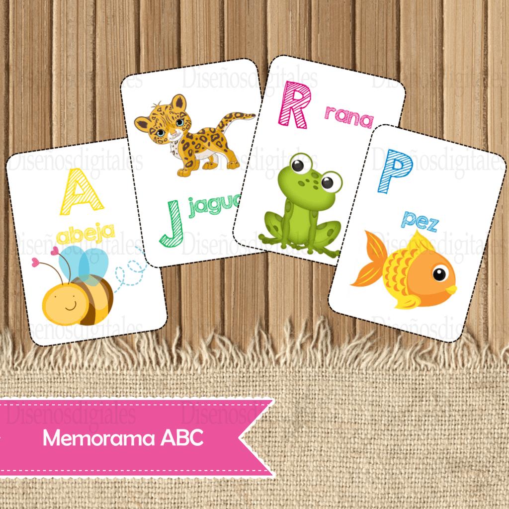 memorama del abecedario para niños