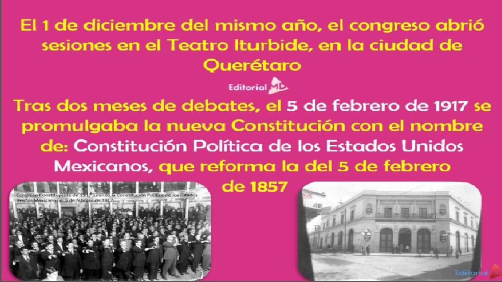 Nueva constitucion de los estados unidos mexicanos