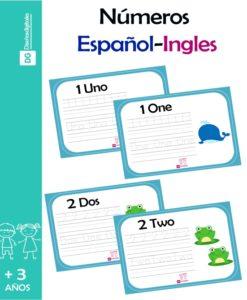 Numeros en español e Ingles para imprimir