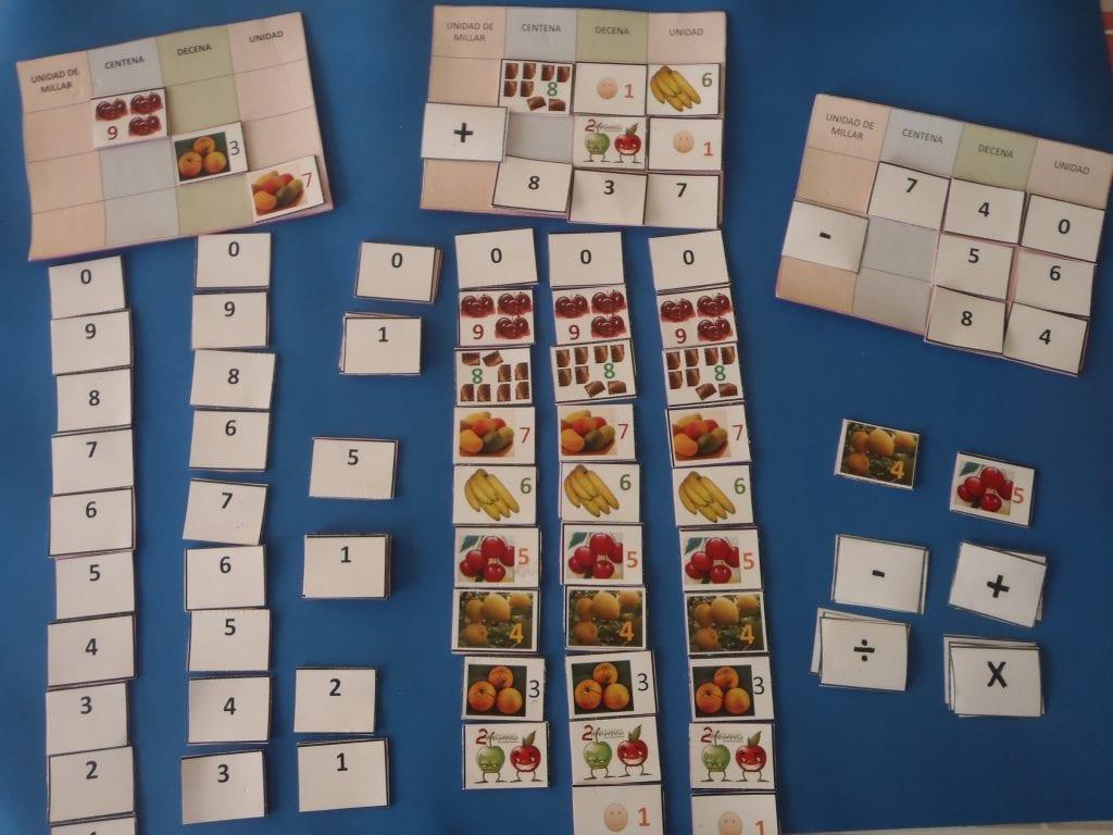 tablero de números ejemplos