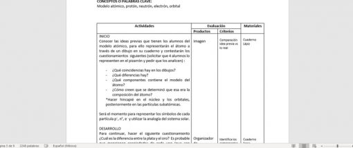 planeacion anual quimica secundaria