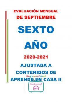 Examen Septiembre Sexto Año 2020-2021