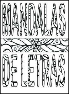 mandala de letras para imprimir