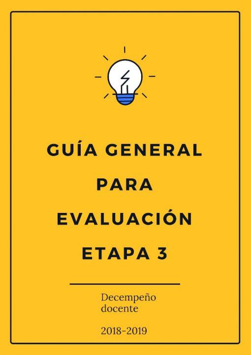 Guía para presentar la Evaluación del Desempeño