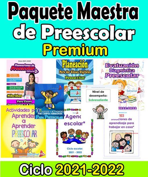 Paquete Maestra de Preescolar Premium Ciclo 2021-2022