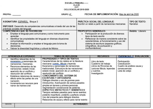 Paquete de Planeaciones 4° Primaria Tercer Período1