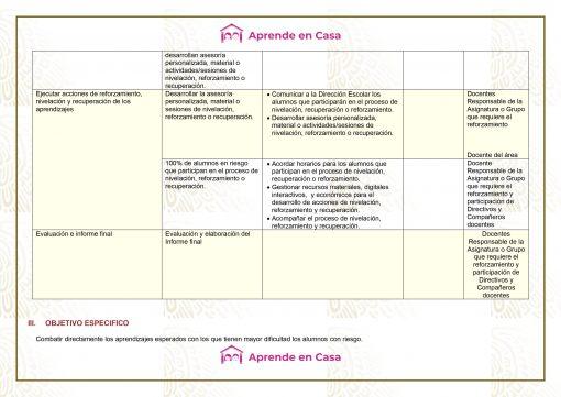 Plan de reforzamiento para Secundaria Generales, Técnicas y Telesecundaria (1er Grado) 01