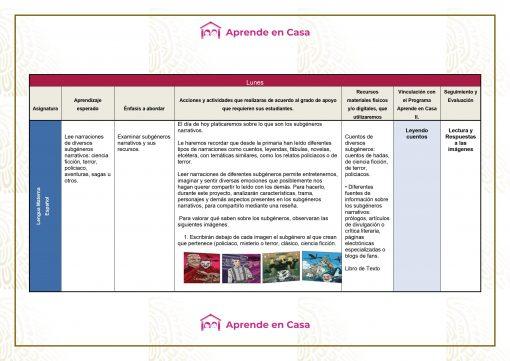 Plan de reforzamiento para Secundaria Generales, Técnicas y Telesecundaria (1er Grado) 02