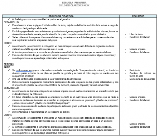 Planeación 3 grado de Primaria (Trimestre 3) 2019-2020 03
