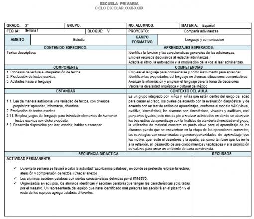 Planeación 3 grado de Primaria (Trimestre 3) 2019-2020