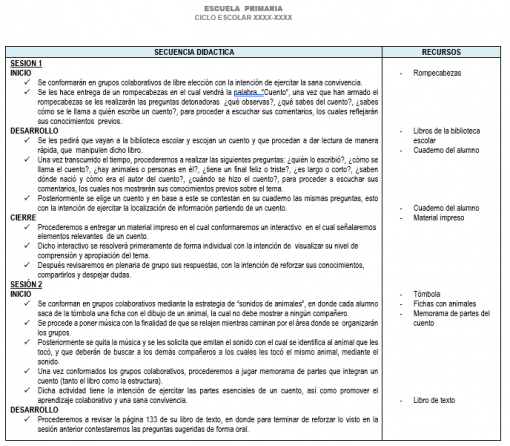 Planeación 4 grado de Primaria (Trimestre 3) 2019-2020 02