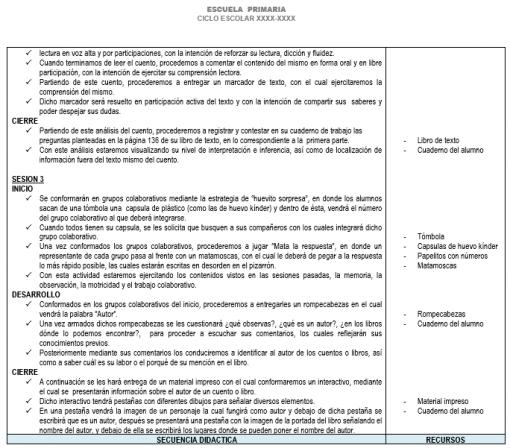 Planeación 4 grado de Primaria (Trimestre 3) 2019-2020 03