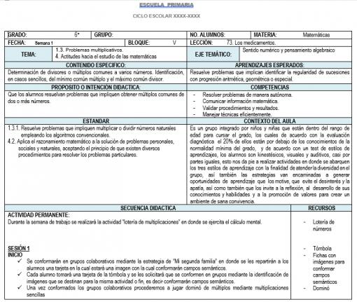 Planeación 6 grado de Primaria (Trimestre 3) 2019-2020 01