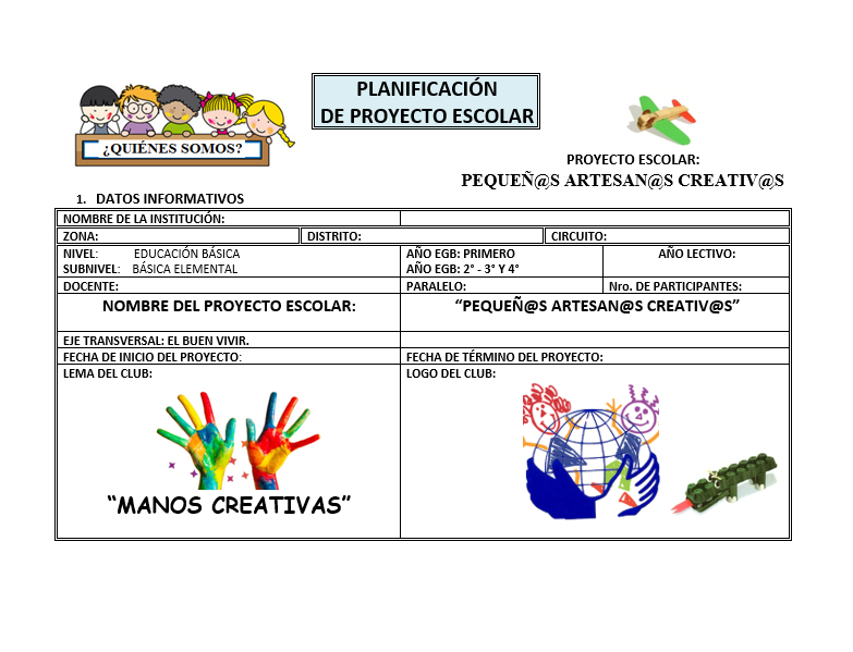 Planeación Club Artesanías EDUCACIÓN BÁSICA