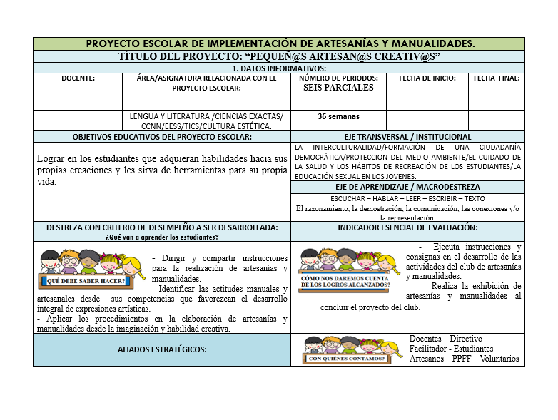 Planeación Club Artesanías EDUCACIÓN BÁSICA05